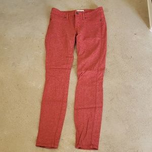 Rust patterned jeans